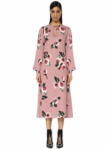 Beymen Collection Yakası Bağlamalı Krep Elbise Pembe
